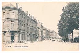 CPA Rare Dos Non Divisé : NAMUR Avenue De Belgrade (avenue Des Combattants) , Café Oriental - Namur