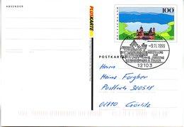 "(Bu-B4) BRD Amtliche GZS-Sonderpostkarte PSo 60 I ""PLUSKARTE "" WSt ""Eifel"" SSt 9.11.1999 BERLIN ZENTRUM - Postcards - Used"