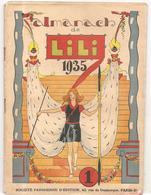 Almanach De Lili De 1935. Ouvrage Agrafé De 50 Pages Des Editions Société Parisienne D'Edition - Calendriers