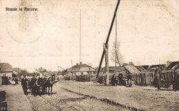 POLSKA - POLAND Postcard - PARCZEW, Street In Parczew - 1918 - FELDPOST PROVIANT-KOLONNE 84 - Pologne
