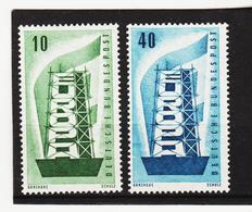 LVT303 EUROPA CEPT 1956 DEUTSCHLAND BRD Michl 241/42 ** Postfrisch - Europa-CEPT