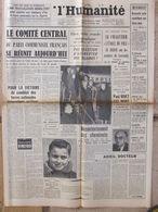 Journal L'Humanité (25 Mars 1958) Loctudy - Mort De Paul Rivet - Robert Jungk - Election Paris - Le Barlafré JP Chabrol - Kranten