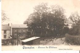CP. De CHAMPLON - Avenue Du Château - Ed. China Englebert Neuve - Belgio