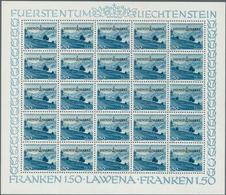 Liechtenstein - Dienstmarken: 1947, Dienstmarken 'Gemeinden Und Landschaften' Kompletter Satz In Kom - Official