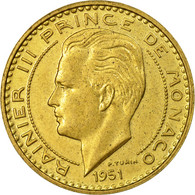 Monnaie, Monaco, Rainier III, 20 Francs, Vingt, 1951, SUP, Aluminum-Bronze - Monaco