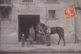 MARECHALERIE    CARTE PHOTO     G BLANC LA VARENNE St MAUR - France
