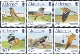 United Kingdom - Alderney 236-241 (complete.issue.) Unmounted Mint / Never Hinged 2004 Migratory: Sperlingsvögel - Alderney