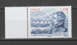 FRANCE / 2016 / Y&T N° 5044 ** : Jouffroy D'Abbans - Navigation à Vapeur X 1 BdF G - Gomme D'origine Intacte - France