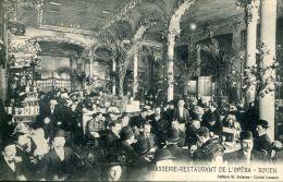 N°1831 A -cpa Rouen -brasserie Omnia -Bertallot Propriétaire- - Ristoranti