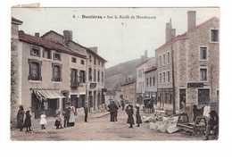 43 Dunieres Sur La Route De Montfaucon Cpa Carte Colorisée Animée Cachet 1915 - Autres Communes