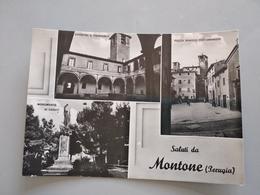 CARTOLINA SALUTI DA MONTONE - Perugia
