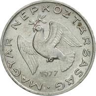 Monnaie, Hongrie, 10 Filler, 1977, Budapest, TTB+, Aluminium, KM:572 - Hongrie