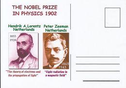 FAMOUS PEOPLE, NOBEL PRIZE LAUREATS, HENDRIK LORENTZ, PETER ZEEMAN, PHYSICS - Prix Nobel