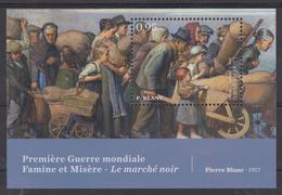 Luxembourg 2018 - émission Septembre 2018 - Les 100 Ans De La Fin De La Première Guerre Mondiale En Blc Feuillet - Guerre Mondiale (Première)