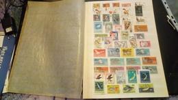 F01038 LOT FEUILLES TIMBRES MONDE NEUFS / OB A TRIER POIDS 0.450KG DÉPART 10€ - Briefmarken