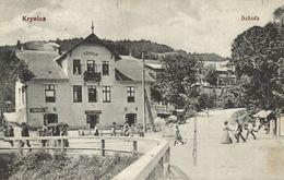 POLSKA - POLAND Postcard - KRYNICA, Szkola - Polen