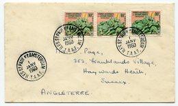 RC A10058 TAAF N° 11 X 3  - 1960 LETTRE POUR L'ANGLETERRE TB - Terres Australes Et Antarctiques Françaises (TAAF)