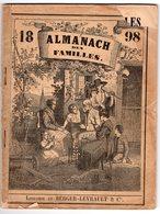 ALMANACH Des Familles 1898 (72 P) Expédition NANSEN - Naufrage Ville De Saint-Nazaire- Cloche Savoyarde - Juifs ... - Calendriers