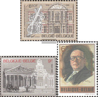 Belgium 2086-2087,2099 (complete Issue) Unmounted Mint / Never Hinged 1982 Music Conservatory, J. Lemaire - Belgium