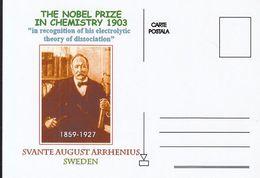 FAMOUS PEOPLE, NOBEL PRIZE LAUREATS, SVANTE AUGUST ARRHENIUS, CHEMISTRY - Prix Nobel