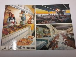 C.p. Pubblicità RISTORANTE LA LAMPARA Cattolica Uomo In Posa    (blocco 1) - Cartoline