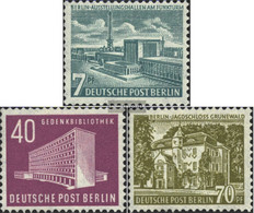 Berlin (West) Mi.-number.: 121-123 (complete Issue) Unmounted Mint / Never Hinged 1954 Berlin Buildings - Unused Stamps