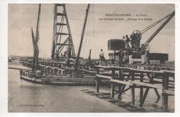 85.070/ AIGUILLON Sur MER - La Faute - Les Travaux Du Pont - Passage D'un Bateau - Francia