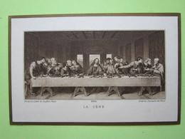 LA Cène (d'après Léonard De Vinci) Germaine ROSTAND, St-François-de-Sales 14 Mai 1914 - Chromo, Image Religieuse, Pieuse - Images Religieuses