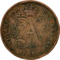 Monnaie, Belgique, Albert I, 2 Centimes, 1912, TB+, Cuivre, KM:64 - 1909-1934: Albert I
