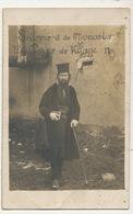 Real Photo Un Poppe De Village Environs De Monastir  Bitola 1918 Legers Plis - Macédoine