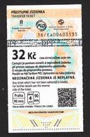 République Tchèque, Prague, Billet De Train, Trtain Ticket - Chemins De Fer