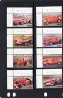 Antigua & Barbuda  - History Of Ferrari Grand Prix Cars      -  8v Set  Neuf/Mint - Automobile