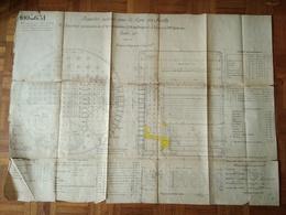 Plan PAQUEBOT ANNEXE Des ANTILLES - ST NAZAIRE JANVIER 1912 - Tools