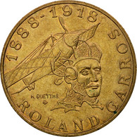 Monnaie, France, Roland Garros, 10 Francs, 1988, Paris, TTB, Aluminum-Bronze - France