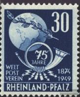 Franz. Zone-Rheinland Pfalz 52 Postfrisch 1949 Weltpostverein - Zone Française
