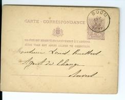 Carte Correspondance Préimprimée CàD Boom & Anvers 1877 Cachet Henri Troch à Louis Keusters Agent De Change Anvers - Boom