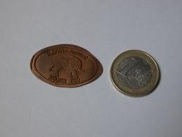ELEPHANT . ZOO DE COLOGNE. ELEFANTENTALER  KOLNER ZOO. ALLEMAGNE. - Elongated Coins