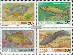 Namibia - Southwest 719-722 (complete Issue) Unmounted Mint / Never Hinged 1992 Südwasserfische - Namibia (1990- ...)