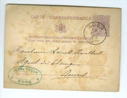 Carte Correspondance AS CàD Boom & A    S 1877 Cachet Henri Troch à Louis Keusters Agent De Change Anvers - Boom