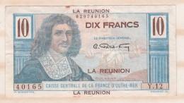 Ile De La Réunion 10 FRANCS 1947 Colbert , Caisse Central De La France D Outre Mer - Reunion
