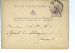 Carte Correspondance AS CàD Boom & Anvers 1877  à Louis Keusters Agent De Change Anvers - Boom