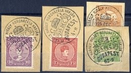 AUSTRIA HUNGARY  1916  The Crowning Day Of Charles The King COMMEMORATIV POSTMARK @ 4 Pcs Cutting - Hungría