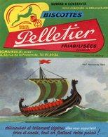 BUVARD(BISCOTTE PELLETIER) ROMAINVILLE(BATEAU VOILIER) - Biscottes