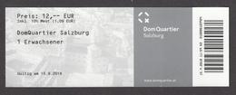 Autriche, Austria, Salzburg, Salzbourg, 2018, Cathédrale Et Appartements Royaux, Cathedral And Royal Appartments - Biglietti D'ingresso