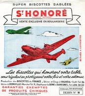 BUVARD(BISCOTTE SAINT HONORE) DONVILLE(PARACHUTISME) AVIATION - Biscotti