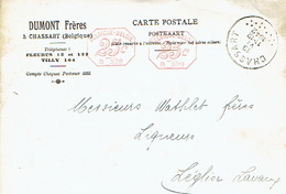 CP Publicitaire CHASSART 1942 - DUMONT Frères - Distillerie - Fleurus