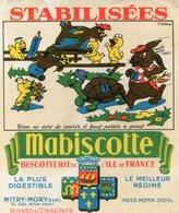 BUVARD(BISCOTTE MABISCOTTE) MITRY MORY(TORTUE_LAPIN) - Biscotti