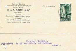 CP Publicitaire CHATELET 1935 - E. & F. ROISIN & Cie - Fabrique D'instruments De Pesage : Balances, Bascules... - Fleurus