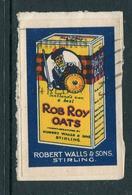"Scotlands Own And Best Rob Roy Oats Reklamemarke Poster Stamp Vignette On Piece 2 1/8 X 1 1/2"" - Cinderellas"