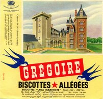 BUVARD(BISCOTTE GREGOIR) LEVALLOIS PERRET(PAU) - Biscottes